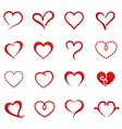 Heart valentine icon set vector