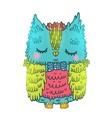 Cute cartoon owl animal vector