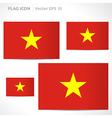 Vietnam flag template vector