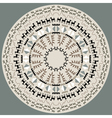 Disc with primitive art pattern vector