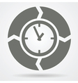 Time cycle web icon vector