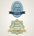 Discount vintage retro design style vector
