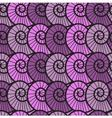 Seamless lilac background with shells vector