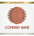 Abstract company name red and gold round logo vector