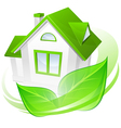 House green leaves abstract vector