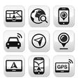Gps navigation travel buttons set vector