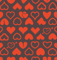 Different abstract heart icons seamless background vector