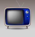 Old blue retro television vector