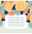Retro wedding invitation card with roses vector