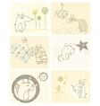Cartoon animals card vector