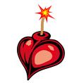 Heart bomb vector