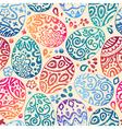 Eastern sketch eggs seamless pattern vector