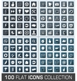 Set of 100 universal flat modern icons vector