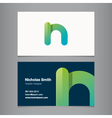 Business card letter n vector