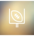 Football poster thin line icon vector