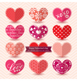 Valentines day heart symbol elements pattern vector