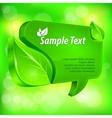 Speech green bubble vector