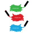 Markers text box vector