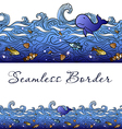 Seamless sea border vector