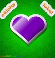 Heart love icon sign symbol chic colored sticky vector