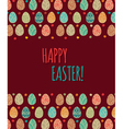 Eastern eggs pattern with colorful eggs vector
