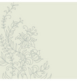 Floral light background vector