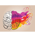 Creativity and brain vector