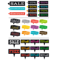 Color labels with sale offer vector