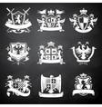 Heraldic chalkboard emblems vector