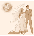 Wedding and flowers vector