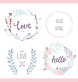 Hand drawn love collection vector