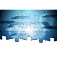 Hi-tech puzzle background vector