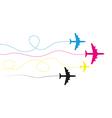 Cmyk planes vector