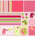 Baby scrapbook elements vector