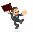 Happy businessman cartoon vector