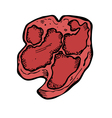 Raw meat vector
