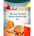 Fast food menu poster vector