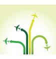 Green planes vector