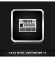 News icon silver metal vector
