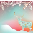 Christmas reindeer card background vector