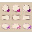 Set of elegant templates frame design vector