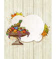 Vintage banner with fruits vector
