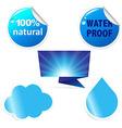 Water sticker vector