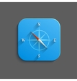 Compass icon - flat app button vector