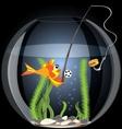 Fish and food vector
