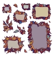 Set of ornamental frames vector