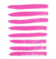 Pink ink brush strokes vector