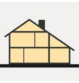 House in cut flat section house vector