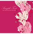 Elegant valentine love floral postcard vector