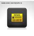 News icon gold vector
